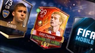 FIFA 17 Mobile - TOP 5 (Mystery Box Packs) 99+ Elites Packed - Insane Pack Luck!