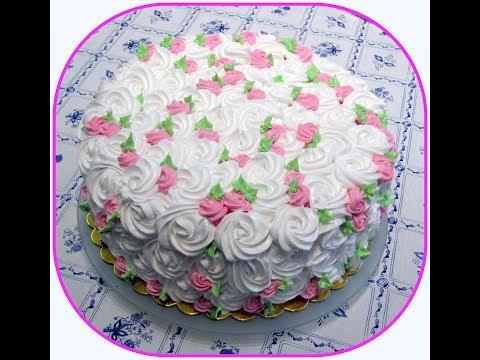 Как украсить торт взбитыми сливками из баллончика в домашних условиях