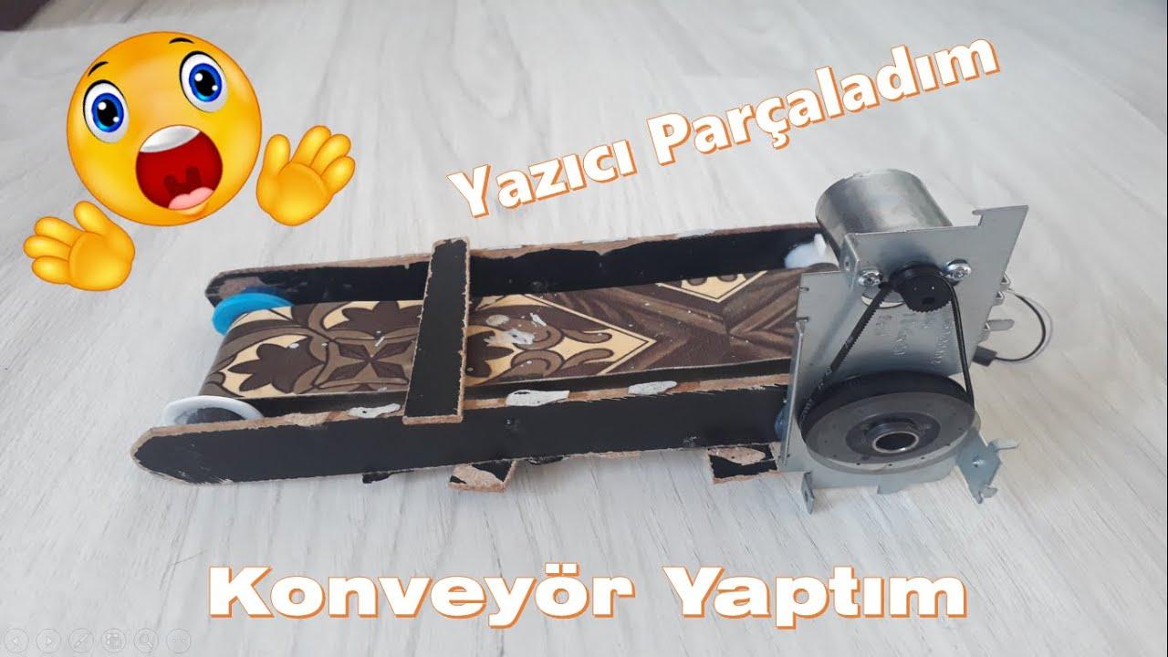 Yürüyen Bant ( Konveyör ) Yapımı ( making conveyor )