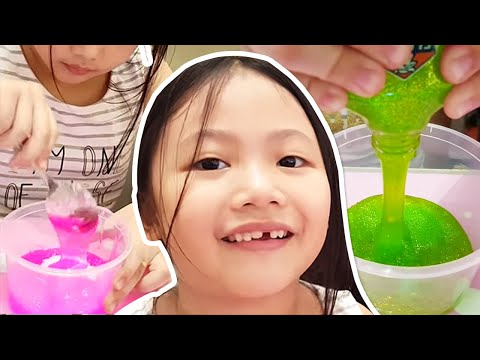 Slime Time With Bug | How To Make Glow In The Dark And Glittery Slime