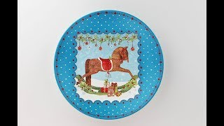 Decoupage plate - Painted plate - Decoupage tutorial - Decoupage for beginners