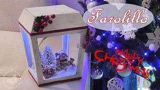 Cómo hacer un farolillo de cartón navideño con luces 🕯🎄 Luces de navidad