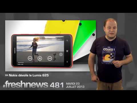 freshnews #481 Podcasts iTunes. Nokia Lumia 625. Ubuntu Edge (23/07/13)