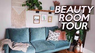 BOHO BEAUTY ROOM TOUR & Makeup COLLECTION | Jamie Paige