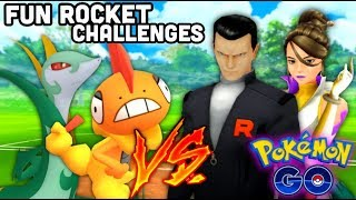 One Scrafty defeats Rocket Leaders in Pokemon GO | Unique Giovanni Battle