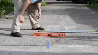 How To Trench Under Your Driveway To Install Wires For Dual Gate Openers