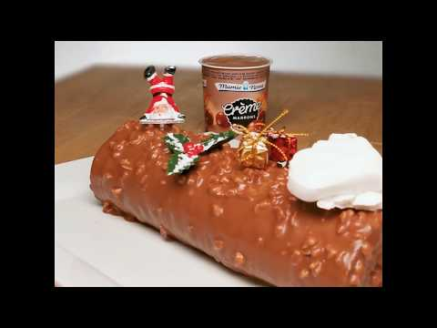 """recette-""""bûche-aux-marrons""""---crème-marrons-mamie-nova"""