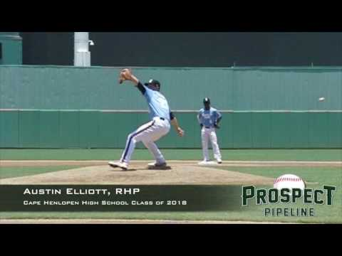Austin Elliott, RHP, Cape Henlopen High School , Pitching Mechanics at 200 FPS