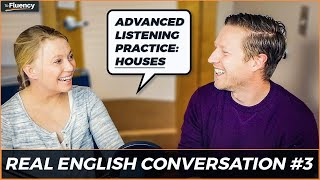 Advanced English Conversation Lesson #3: Houses 🏠 (learn real English w/ subtitles)