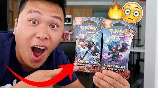 BEST PULLS EVER POKEMON BURNING SHADOWS OPENING!!!!!