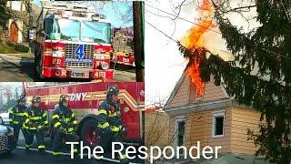 [FDNY] QNS 2 ALARM HOUSE ON FIRE - 149-44 ASH AVENUE