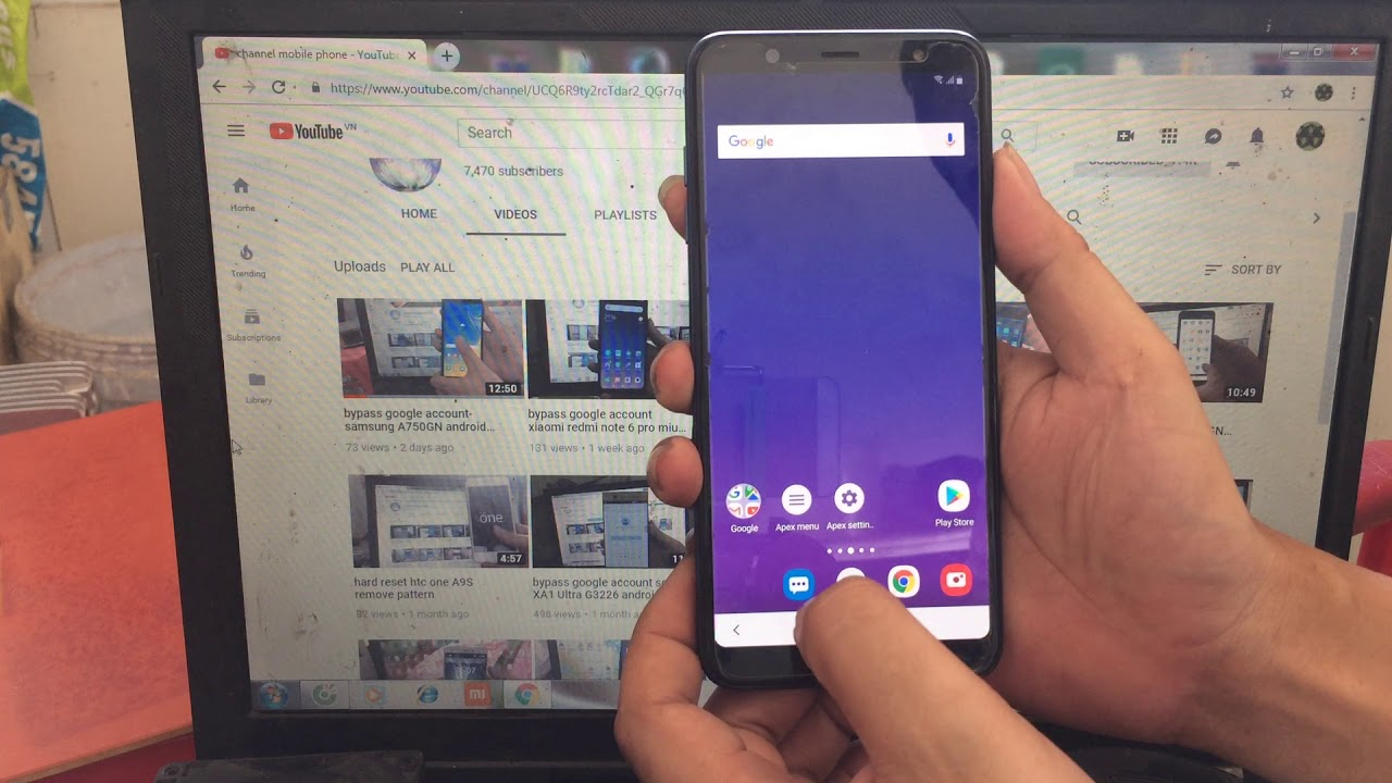 bypass google account samsung A6+ 2018 A605G android 9 0 no pc