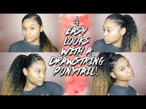 4-easy-looks-for-a-drawstring-ponytail!