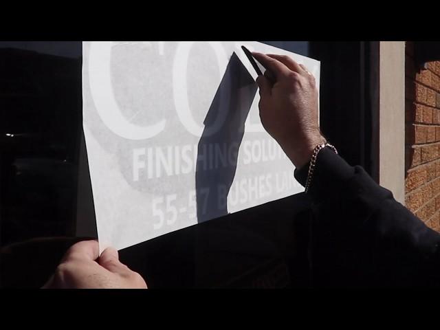 Vinyl - Kiss Cutting Tool - Sign Installation