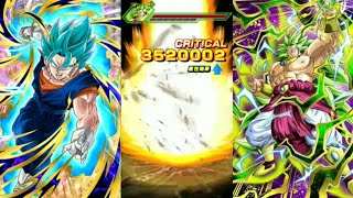 Dokkan Battle Beating SS3 Broly in 4 Turns!