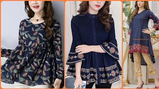 Download Latest Short Frock Kurti Designs 2020 || Dailywear Short Kurti Ideas For Girls