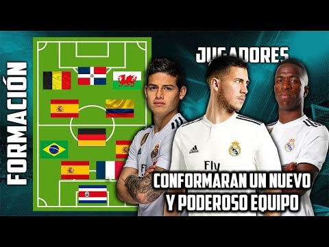 Así sera la nueva ALINEACIÓN del Real Madrid para la próxima temporada