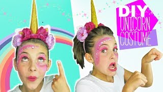 DIY Halloween Unicorn Costume and makeup tutorial for kids DIY Unicorn Horn Kids Cooking and Crafts
