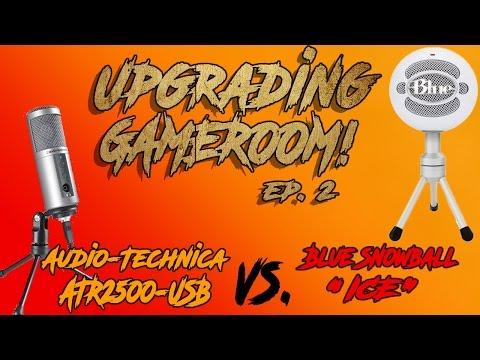 "UPGRADING GAMEROOM ep. 2- ""Blue Snowball iCE VS Audio-Technica ATR2500"" (HD)"
