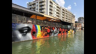 Video De Paris à Bondy, une croisière sous le signe du street art, sur le canal de l'Ourcq download MP3, 3GP, MP4, WEBM, AVI, FLV November 2018