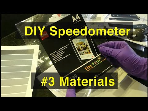 3. How to print your own (DIY) speedometer (instrument cluster) - Materials