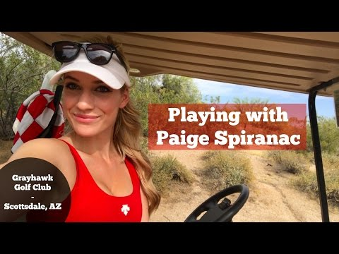 Playing with Paige Spiranac // Course Vlog // Grayhawk Golf Club, Scottsdale, AZ