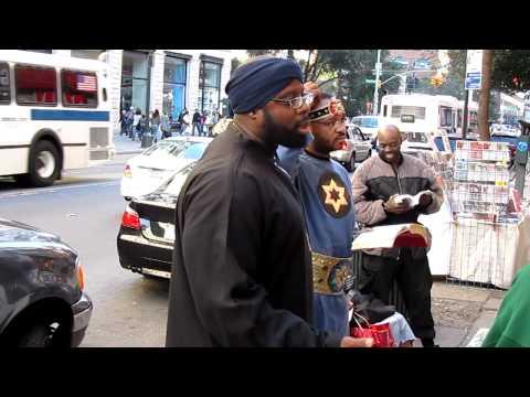 The Black Israelites Preaching Some Strange Gospel, Near Union Square, In NYC.