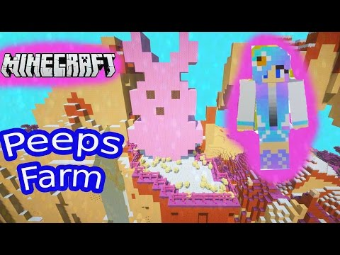Minecraft Giant Bunny PEEPS Chick Farm Candy Sugar Land Gaming Cake World Cookieswirlc Plays