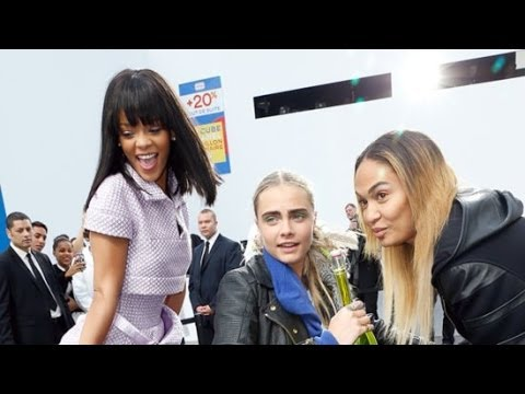 Rihanna and Cara Delevingne at the Chanel Grocery Store Fall 2014 | Fashion Flash