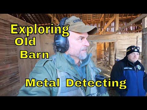 Old Shenandoah Valley Barn Exploration : Metal Detecting