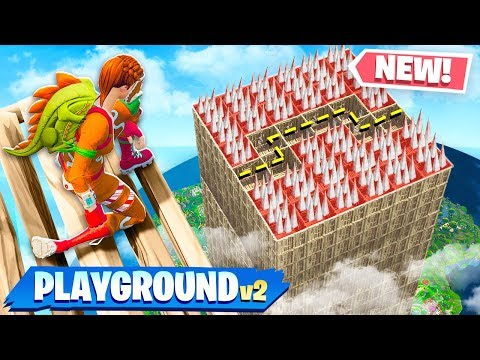 *NEW* DEATH MAZE GAMEMODE in FORTNITE! (PLAYGROUND MODE V2)