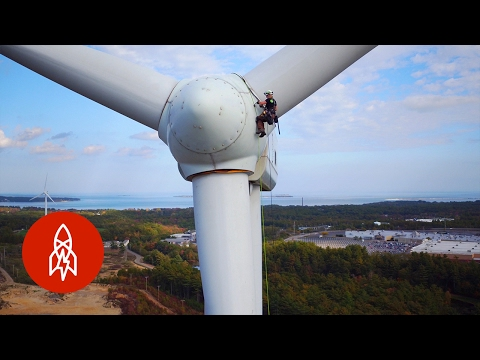Climbing Wind Turbines for a Living | That's Amazing