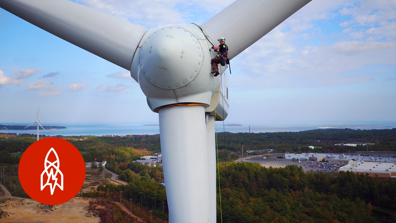 Climbing 300 Foot Wind Turbines For A Living Youtube How Do Generate Electricity Video Energy Powers