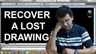 AUTOCAD AUTOSAVE | AUTOCAD BACKUP FILES | AUTOCAD DRAWING RECOVERY MANAGER