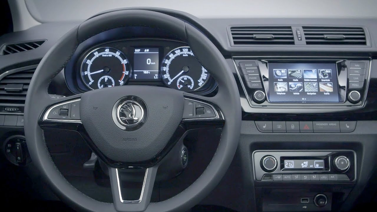 The New Skoda Fabia Combi 2018 Facelift Interior Youtube