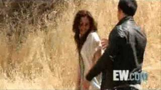 taylor lautner and kristen stewart flirting on the set of new moon never before seen clip