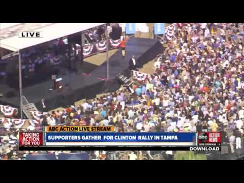 LIVE   Hillary Clinton holds campaign rally in Tampa