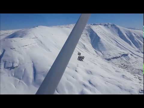 Cessna flight from Beirut to Faraya and back