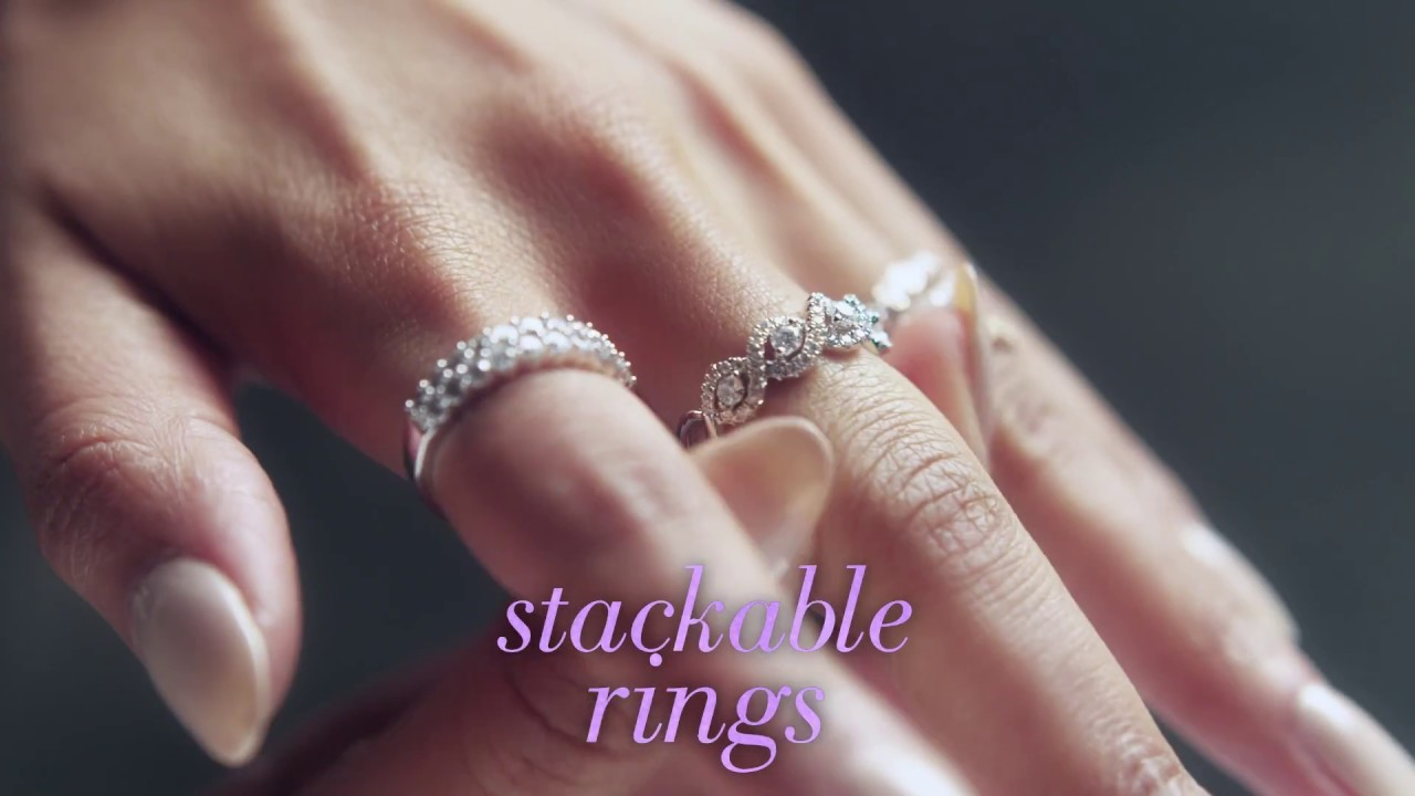 Trend Alert! How to Wear Stackable Rings - YouTube