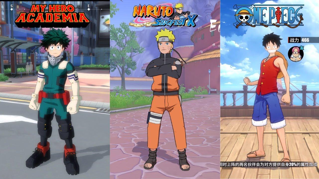 My Hero Academia The Strongest Hero vs One Piece Fighting Path vs Naruto SlugfestX | Mobile Gameplay