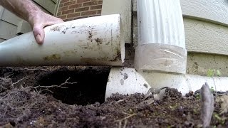 How To Fix French Drain - Downspout Drain