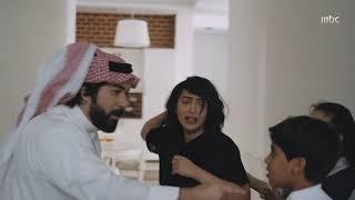 فواز يطرد بدرية من المنزل بعنف ويطلقها