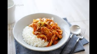 Spicy chicken bowl with glass noodles(매운닭고기당면덮밥)_Koreanfood recipe(영어자막)ENG ver.