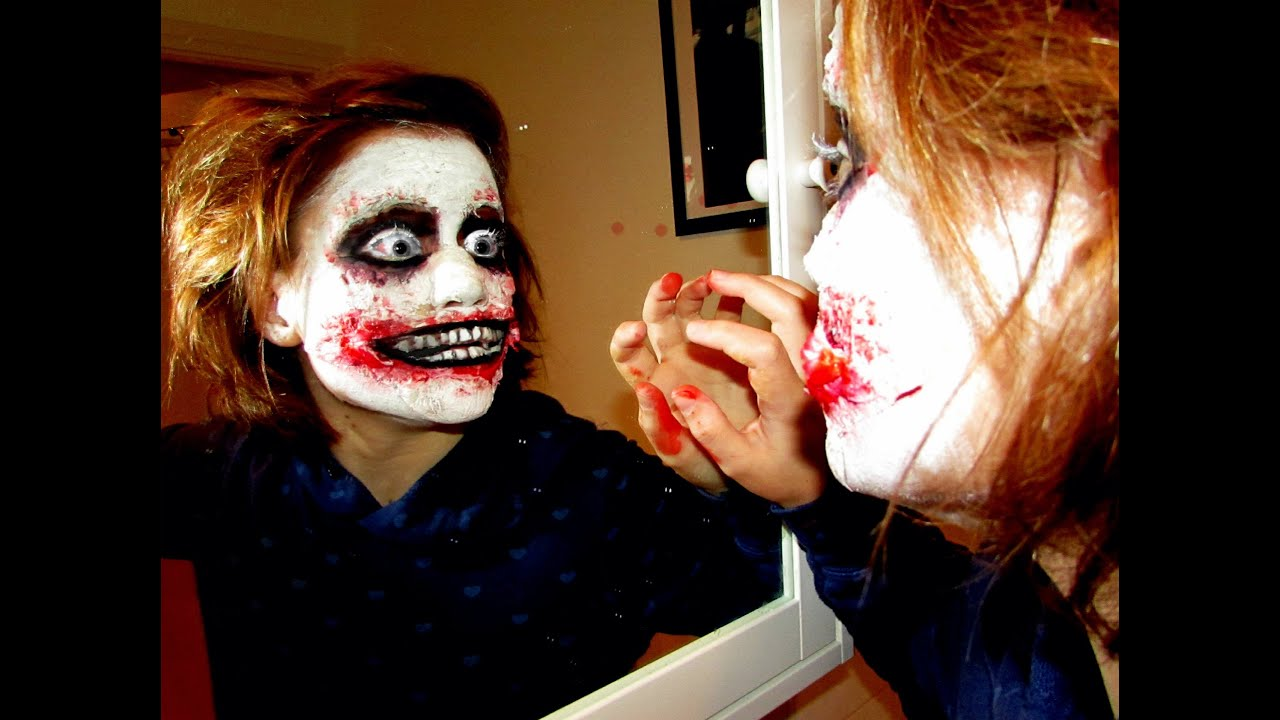 jeff the killer inspired make up tutorial youtube