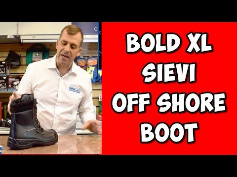 Offshore Oil Industry Sievi Solid XL+ S3 Side Zip Safety Waterproof Boots