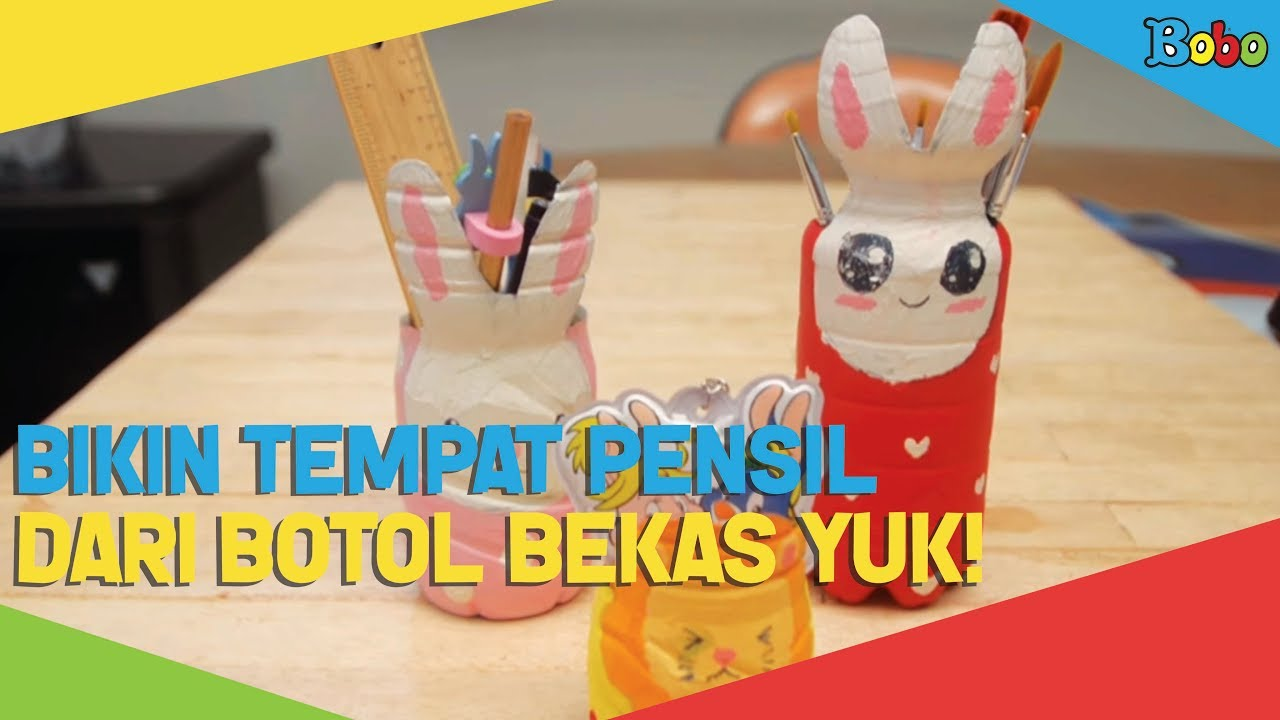 DIY-Kreatif - Membuat Tempat Pensil dari Botol Bekas Yuk! - YouTube 114276246b