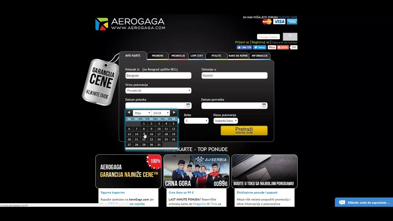 Avionske Karte.Aerogaga Avionske Karte Online Kupovina