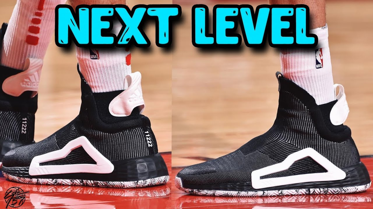 presente Rascacielos empujar  Adidas NEXT LEVEL Basketball Shoe Unveiled In Game! - YouTube
