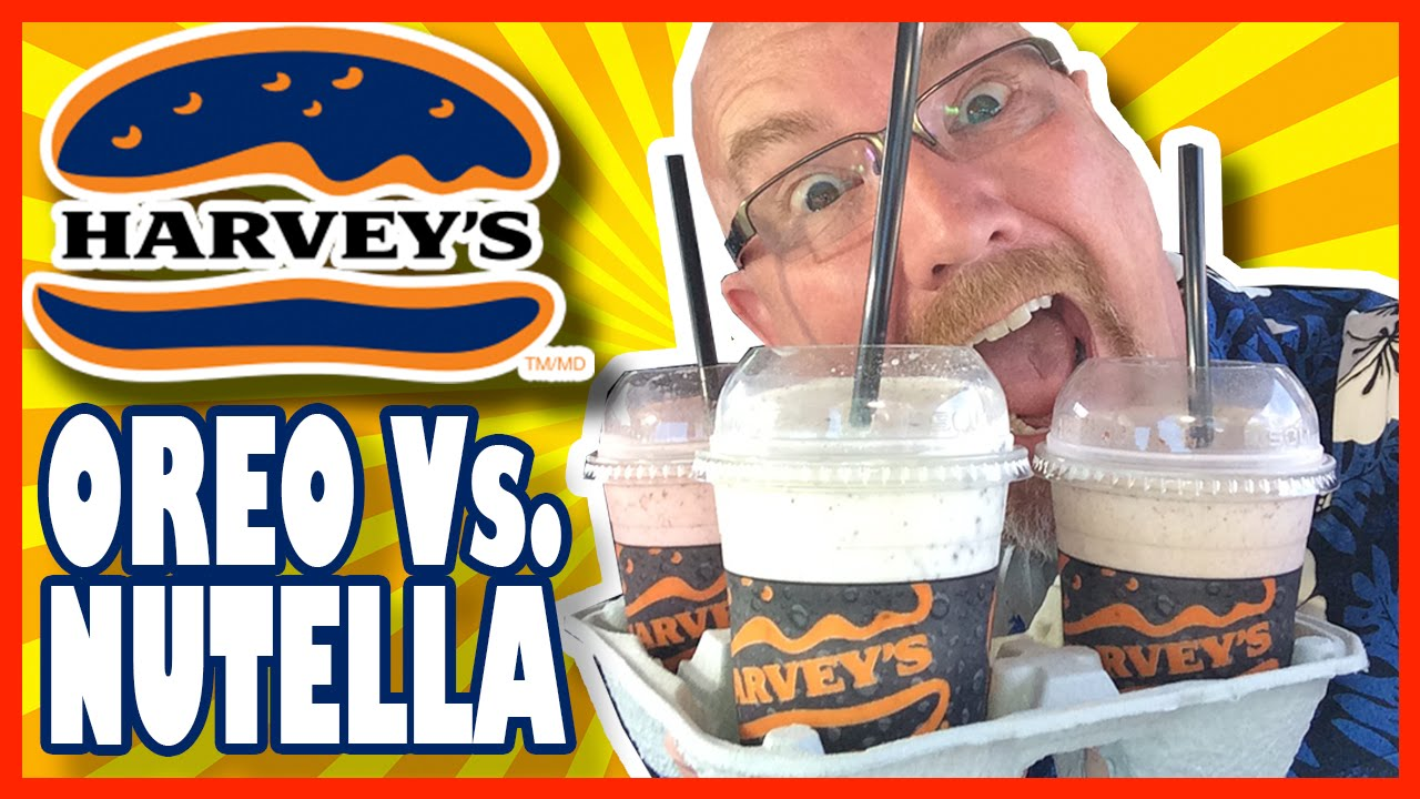 Harvey's Hand Spun Milkshakes Nutella vs Oreo & Nutella-Strawberry | KBDProductionsTV