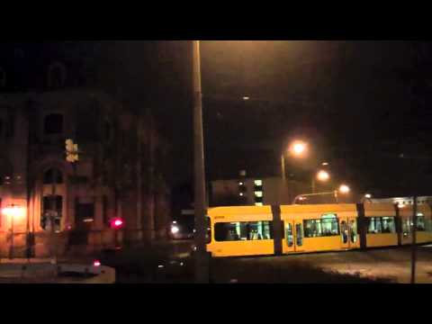 Dresden Trams at Night - 8th February, 2012